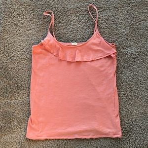 Jcrew flounce cami in coral